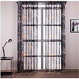SANMI New York Rideaux d'impression Rideau de Tulle fenêtre de Traitement Voile Drape Rideau Maison Salon Chambre à Coucher, 2 * 140cm*220cm