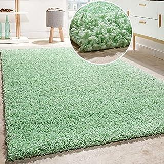 Paco Home Shaggy Teppich Hochflor Langflor Hochwertig Teppiche Uni In Mint Grün AUSVERKAUF, Grösse:60x100 cm