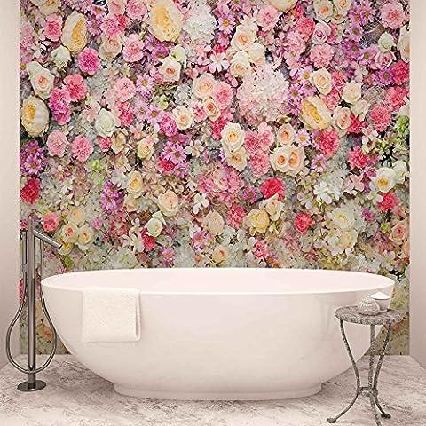 Schöne Blumen Pastellfarben - Forwall - Fototapete - Tapete - Fotomural - Mural Wandbild - (3102WM) - XXL - 368cm x 254cm - Papier (KEIN VLIES) - 4