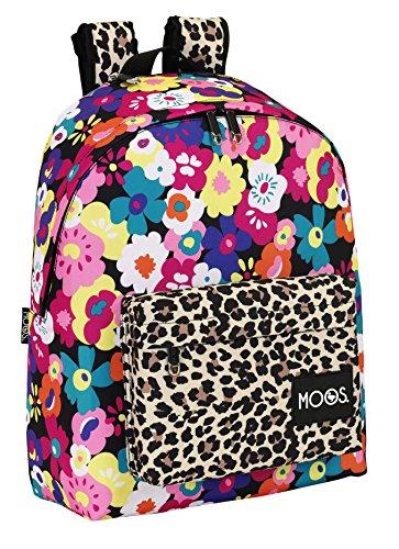 Safta 611518558 Moos Mochila escolar, 42 cm, Multicolor