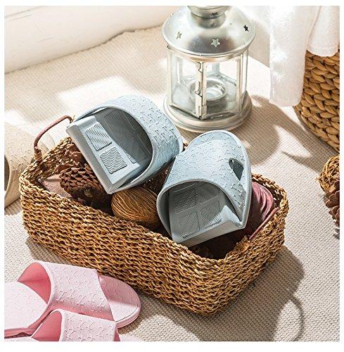 la parola antiskid pantofole, bagno?,40 - 41 grigio - blu La Luce Blu di 35 - 37