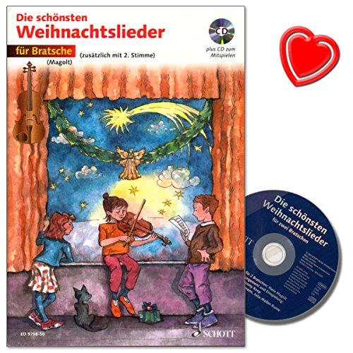 Die schönsten Weihnachtslieder für Bratsche mit CD - 20 leicht gesetzte Weihnachtslieder für den...