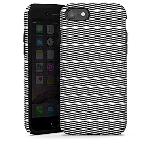 Apple iPhone X Silikon Hülle Case Schutzhülle Illusion Schwarz-Weiß Muster Tough Case glänzend