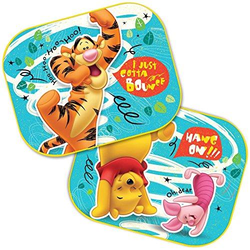 2 x Auto Sonnenschutz Vorhänge Seitenscheibe Sonnenblende wählbar: Mickey - Cars - Starwars Winnie/UV Schutz Geschenk Jungen - Winnie The Pooh