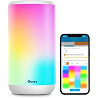 Govee Smart Table Lamp, App Control RGBIC Alexa Bedside Lamp with Scene Modes and Music Mode, Dimmable Warm White Light…