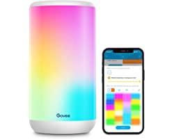 Govee Smart Table Lamp, App Control RGBIC Alexa Bedside Lamp with Scene Modes and Music Mode, Dimmable Warm White Light Lamp