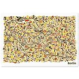 Vianina Berlin Poster (100x70cm) - Stadtplan Plakat