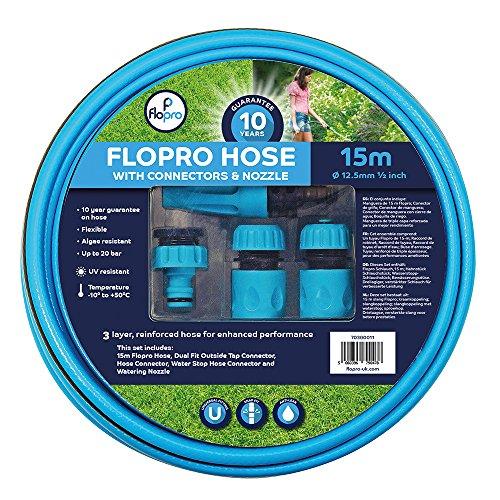 Flopro 70300011 Tuyau 15 m 100 avec connecteurs