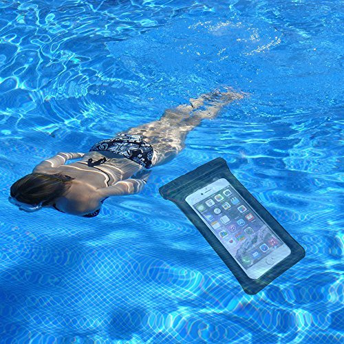 SunnyJenny Custodia Cellulare Impermeabile Universale 6 Pollici Waterproof Cover Case Impermeabile per Apple iPhone 7, 7 Plus,6s / 6, 6s Plus / 6 Plus, SE 5S 5C, Samsung Galaxy S7/S7 Edge/S6/S6 Edge/E nero