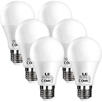 LE E27 LED Birne, 9W 800 Lumen LED Lampe, 2700 Kelvin Warmweiß ...