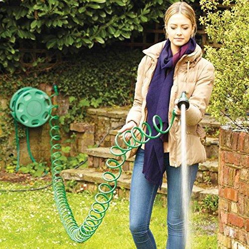 15.24 meters 15 m, Garten, gelockt, Gartenschlauch Wasserschlauch Rohr Sprühpistole, verstellbar