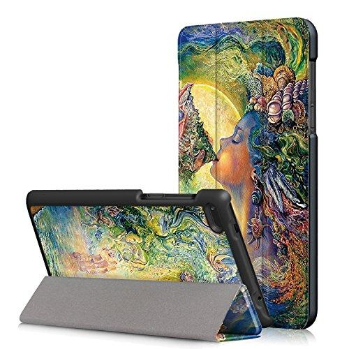 Skytar Custodia per Lenovo Tab7 Essential,Protezione in PU Pelle Custodia con Supporto Cover per Lenovo Tab 7 Essential/Tab4 7 Essential (TB-7304F/TB-7304N/TB-7304X) 7 Pollici Tablet,Ragazza di mare