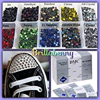 1000 STRASS TERMOADESIVI DMC QUALITY TERMICI HOTFIX SS20/5MM COLOR MIX MISTI Rhinestone HTF Crystal Glass - Pietra Scarpe Clip