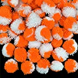 #3: Embroiderymaterial Pom Pom Balls for Crafts Decorations,Jewellery Making Purpose (150 Pieces,Dark Orange and White Color)