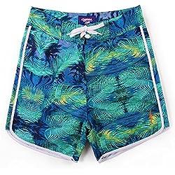 Pantalones Cortos de Surf, Hombre, Verde, 32