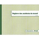 Exacompta – Réf. 6619E -  Piqûre 24x32cm - Registre des accidents du travail - 20 pages