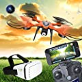 Anyutai TT911 WiFi FPV Live Transmission Drone with VR Glasses,High and Low Speed Switch 3D Tumbling LED Lights Headless Mode Drone for Kids by Cewaal