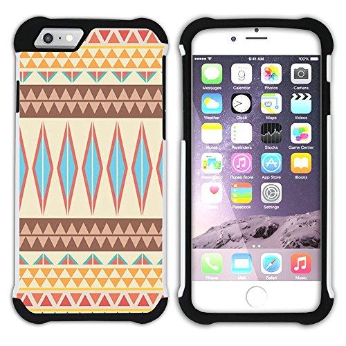 Graphic4You COLORFUL TRIBAL Muster Hart + Weiche Kratzfeste Hülle Case Schale Tasche Schutzhülle für Apple iPhone 6 / 6S Design #6