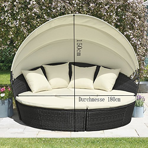JLSun Sonneninsel Poly Rattan