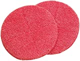 Sichler Haushaltsgeräte Zubehör zu Fußbodenpoliermaschine: 2er-Set Ersatz-Reinigungs-Pads mit rauer Oberfläche für FPM-700 (Poliermaschine zur Bodenreinigung)