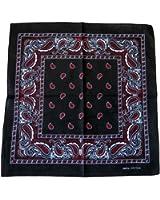 Bandana Noir Rouge Paisley Nouveau 55cm Coton