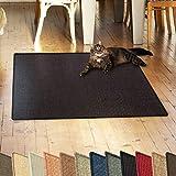 casa pura Sisalteppich Natural Line | Ideal als Kratzmatte für Katzen | schadstofffrei & widerstandsfähig | Sisal Kratzteppich in Vielen Farben und Größen (Schwarz, 50x50 cm)