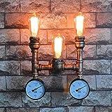 Modeen Vintage industrial Robusto bronce grifo de hierro forjado 3 luces de...