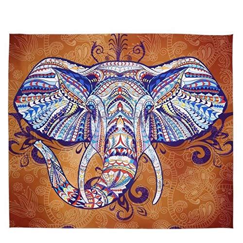 mvbmbbc Tapiz de Elefante Tapicería Decorativa Impresa en Color Tapiz Indio Boho Alfombra de Pared Decoración del hogar [Enviar Accesorios]