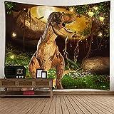 GuDoQi Dinosaurier Tapisserie Wand Hängen Wohnheim Dekor Polyester Für Schlafzimmer Strand Blatt Tisch Tuch