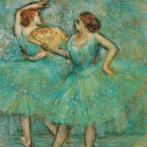 Two dancers, Edgar Degas. Ruled journal: 150 Lined / ruled pages, 8,5 x 8,5 inch (21.59 x 21.59 centimeters) Laminated.  (Paper notebook, composition book) por Studio Beeker