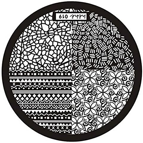 Fortan Hot Hehe Serie Nail Art Immagine timbra Piastre Template Manicure - Airbrush Della Vernice Template