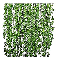 4m artificial Flowers Greenery Fake Hanging Vine Plants Leaf Garland Hanging for Wedding Party Garden Outdoor Office Wall decoration