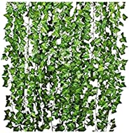 4m artificial Flowers Greenery Fake Hanging Vine Plants Leaf Garland Hanging for Wedding Party Garden Outdoor