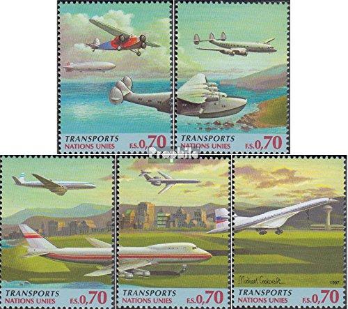 UNO - Genf 314-318 (kompl.Ausg.) 1997 Verkehrswesen (Briefmarken für Sammler) Luftfahrt