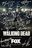 5 Star Prints The Walking Dead Poster dédicacé par 19Fonte 30,5x 20,3cm Norman Reedus Andrew Lincoln JDM Negan Rick Grimes Daryl Dixon autographe imprimé Cadeau idéal