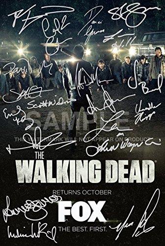 The Walking Dead Cartel Firmado PP 19 Reparto 12x8