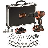 Black + Decker Black & Decker BDCHD18BAFC accuboormachine 80-delige set, 1 W, 18 V