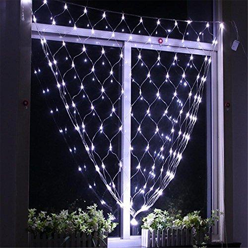LUCKY CLOVER-A Xmas Curtain String Light 2 * 2 Meter 144 LED Fairy net Light wasserdichter Business Kindergarten Familie Garten Halloween Party Hochzeit Gift Dekoration , (Tumblr Halloween Dekor)