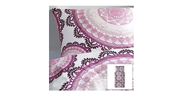 Ikea Lyckoax Weiß Lila Bettwäscheset 3 Teilig 240x220cm Und 2x