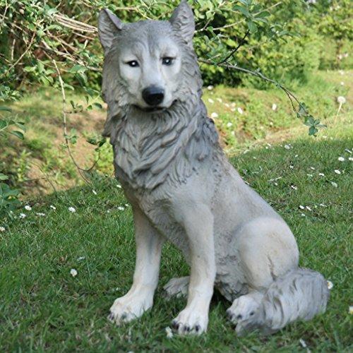Wolf Isegrim Hund Wild Tier Gartenfigur Dekofigur Tierfigur Skulptur