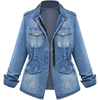Homebaby Invernale Giacca di Jeans Donna Elegante Manica Lunga Cappotto Taglie Forti Classico Giubbotto Cardigan Parka…
