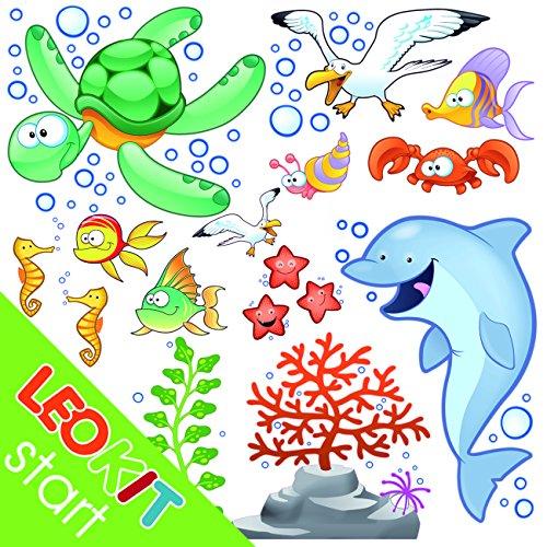 LeoStickers® - LeoKit start Tra le Onde: stickers murali bambini ...