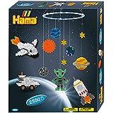 Hama 3231 - Geschenkpackung Mobile Weltraumabenteuer, circa 2500 Bügelperlen, 2 Stiftplatten und Zubehör