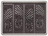 CarFashion Allwetter Schuhmatte PUR - Schuhabtropfschale für Innen und Aussen, TPE-VC 100 Prozent nachhaltig, Anthrazit-Metallic, 52 x 39 cm