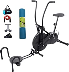 Lifeline Gym Cycle Air Bike for Home Use   Bundles with Twister, Pushup, Yoga Mat (6 MM) and Accessories (5 Items)