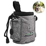 Petacc Hunde Futterbeutel für Hundetraining Leckerlibeutel für Hunde Multifunktionale Hund Behandeln Beutel Tier Training Pack, geeignet für Außenbereich (Grau)
