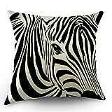 YISUMEI Kissenbezug Kissenhülle 55x55 cm Home Decor Dekokissen Fall Sofa Werfen Kissenbezüge Pillowcases Tier Streifen Zebra