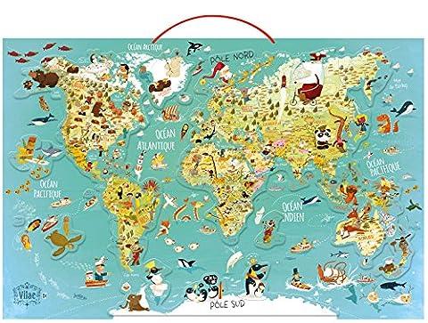 Vilac - 2720 - Carte Du Monde Fantastique Magnétique