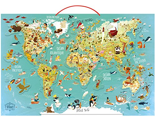 Vilac - Puzzle Map of the World. Fantastic magnetic (2720)