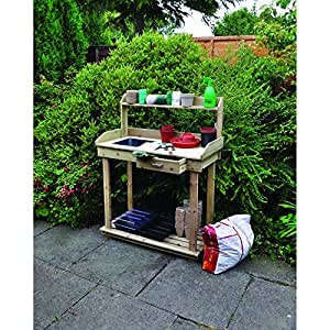 Kingfisher ptable potting table natural wood for Ptable games
